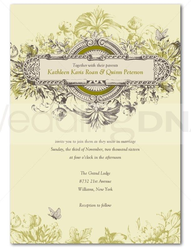 Vintage Wedding Invitation Templates Free Download ...