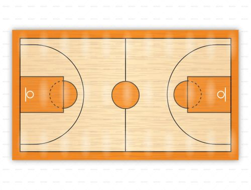 Basketball court diagrams for drawing up plays and drills ...