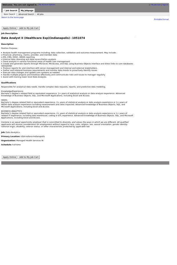 Data Analyst II job at Centene Corporation in Indianapolis, IN ...
