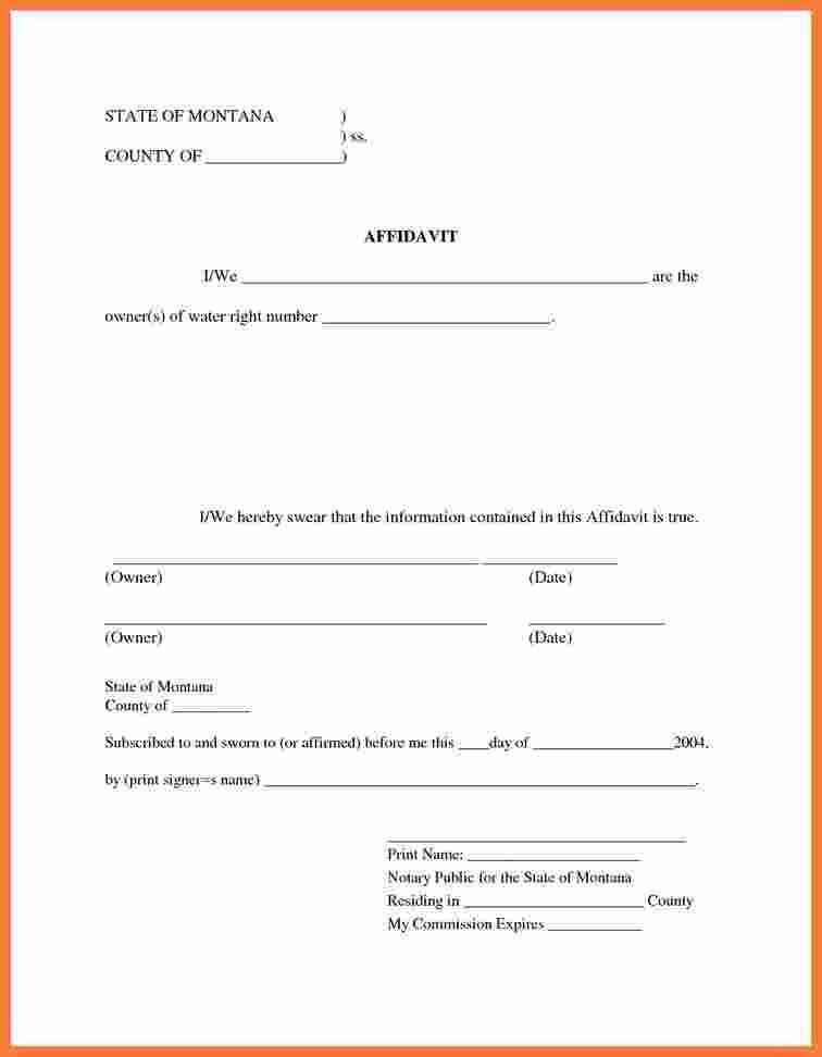 8+ free affidavit form | Marital Settlements Information
