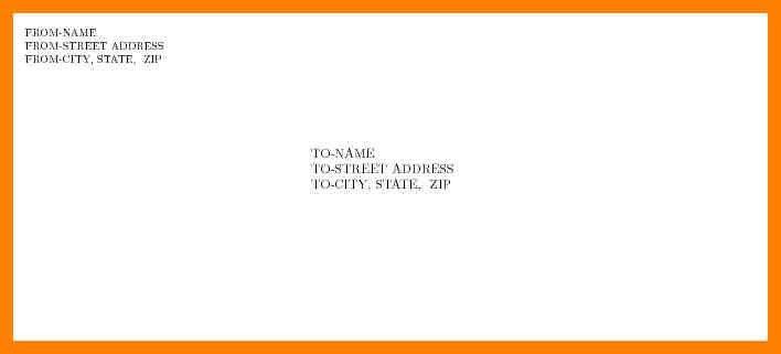 10+ letter format envelope   addressing letter
