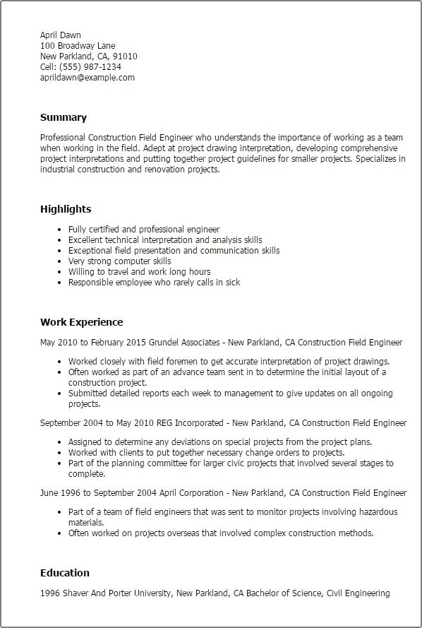 Download Mwd Field Engineer Sample Resume | haadyaooverbayresort.com