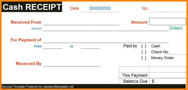 8+ cash receipt template word | memo templates
