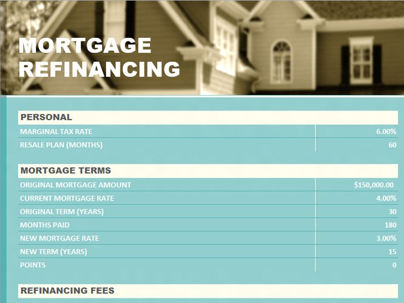 Sample Mortgage Statement | Microsoft Excel Templates