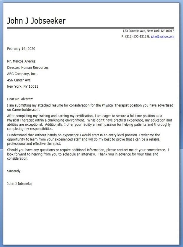 physical therapist cover letter sample. 5. nursing or pta. sample ...