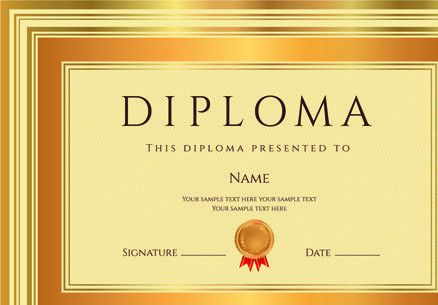Diploma certificate template free vector download (12,922 Free ...