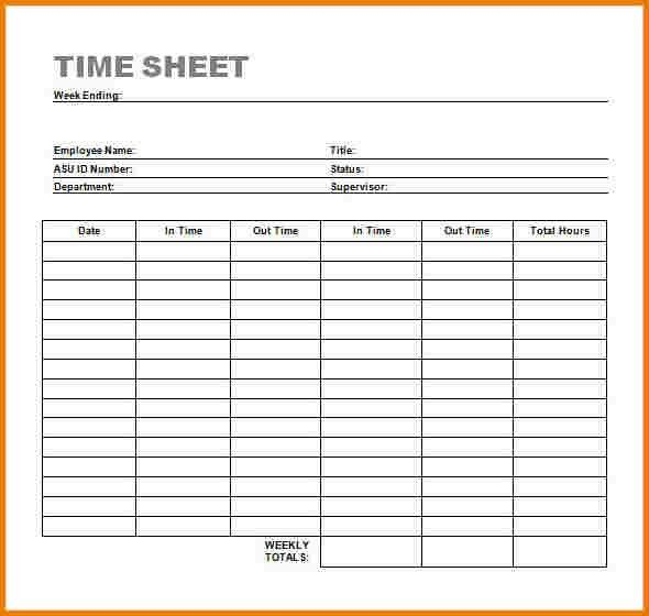 Timesheet template word | Authorization Letter Pdf