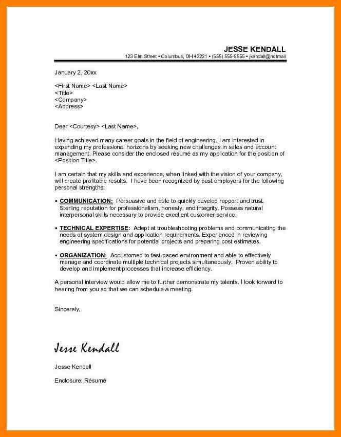 11+ enclosure letter | childcare resume