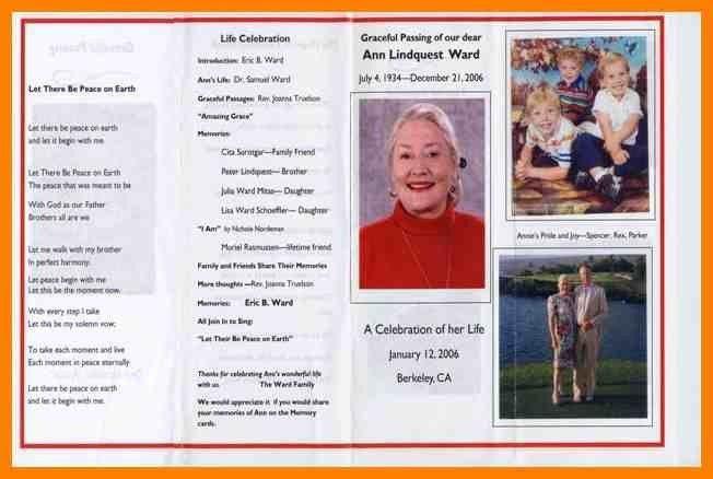 4+ funeral programs examples   sales resumed