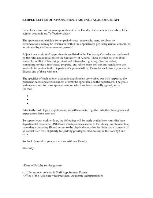 Photo Adjunct Professor Cover Letter Sample Images within Adjunct ...