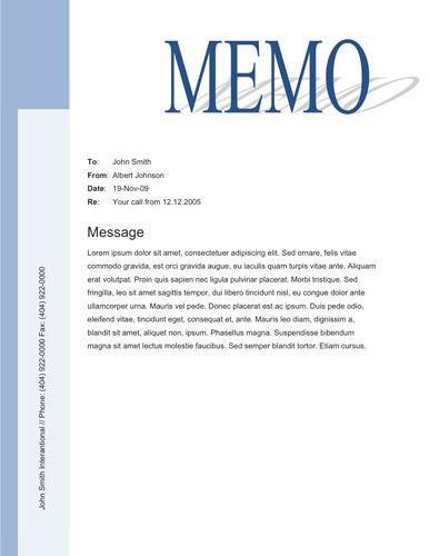 9+ Memo Templates - Word Excel PDF Formats