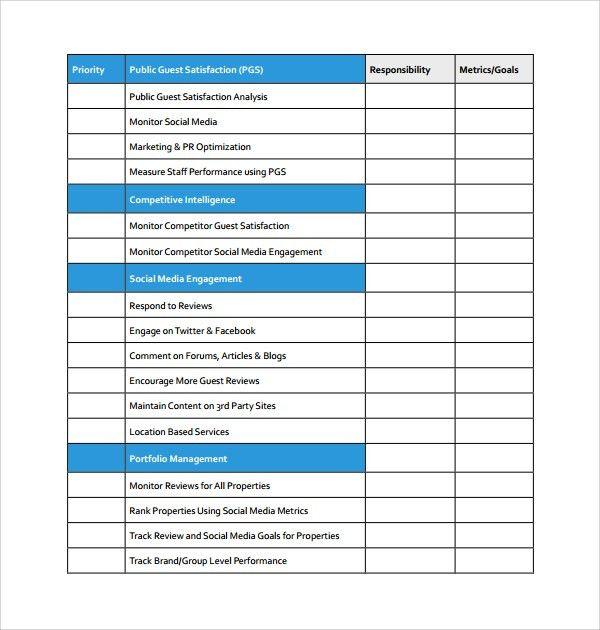 Sample Social Media Plan Template - 6+ Free Documents in PDF