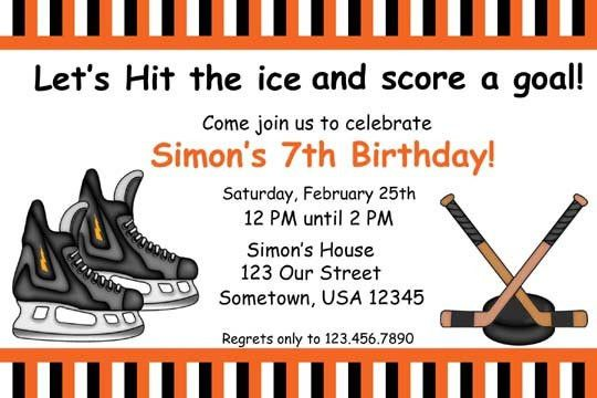 Hockey Birthday Invitations Ideas – Bagvania FREE Printable ...