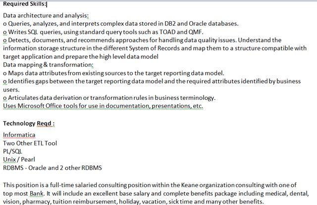 description data analyst resume sample resume cover letter biodata ...