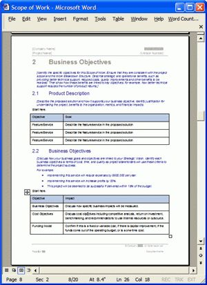 Scope of Work Template - Download MS Word & Excel templates