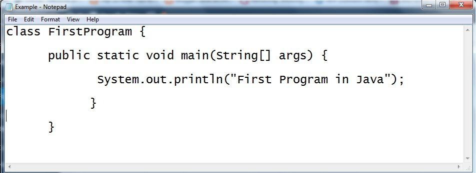 First Program in Java