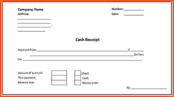 11+ cash receipt template word | Survey Template Words