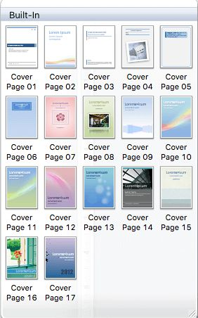 How to Insert & Save Cover Page in Microsoft Word on MAC