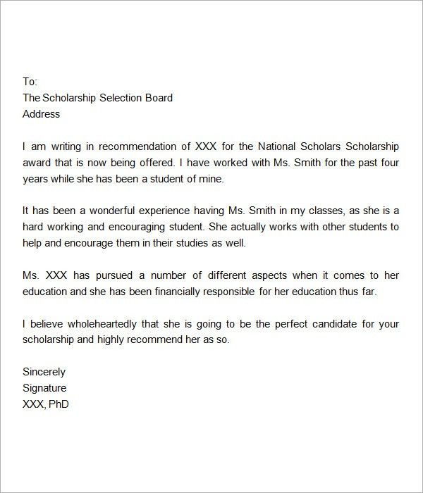 Sample Graduate School Recommendation Letter. 10 Letters Of ...