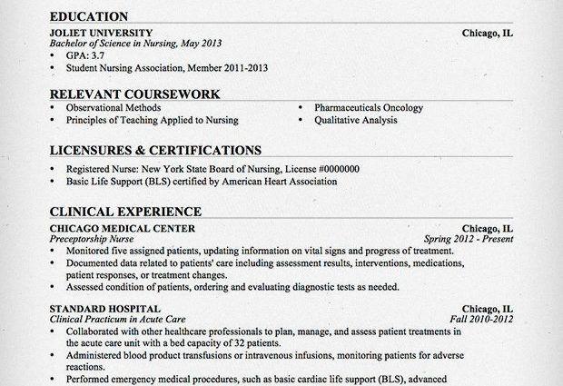 new graduate registered nurse resume examples new registered