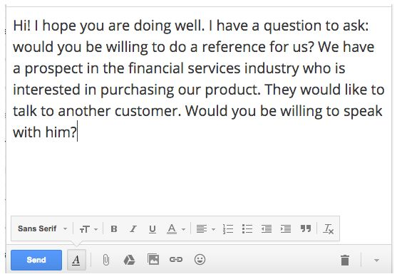 The Art Of Asking For A Customer Reference