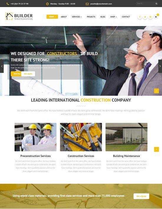 35+ Latest Architecture Construction HTML Website Templates - Web ...