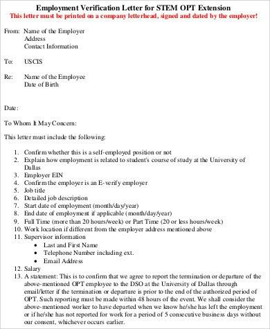 Sample Job Verification Letter - 9+ Examples in Word, PDF