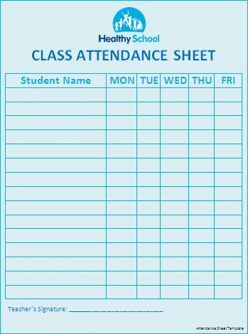 Attendance Sheet Template Donation Balance | Templates | Pinterest ...