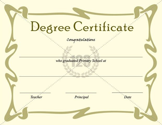 Best Degree Certificate Templates for Primary school graduation ...