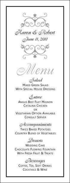 Sample Party Menu Template. Menu Design 11 Birthday Menu Templates ...