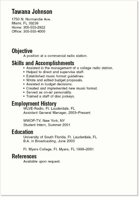 Cool Design Resume Example For College Student 8 Good Resume ...