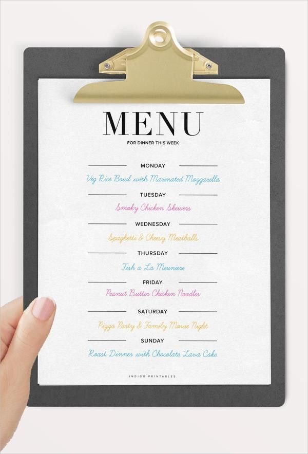 9+ Dinner Party Menu Templates - Design, Templates | Free ...
