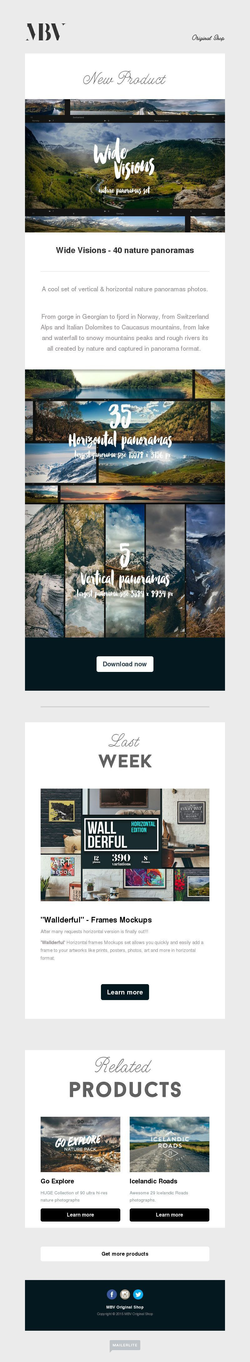 Photography Newsletter Design Gallery, Examples | MailerLite