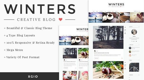 Winters - Personal HTML Blog Template by xgio | ThemeForest