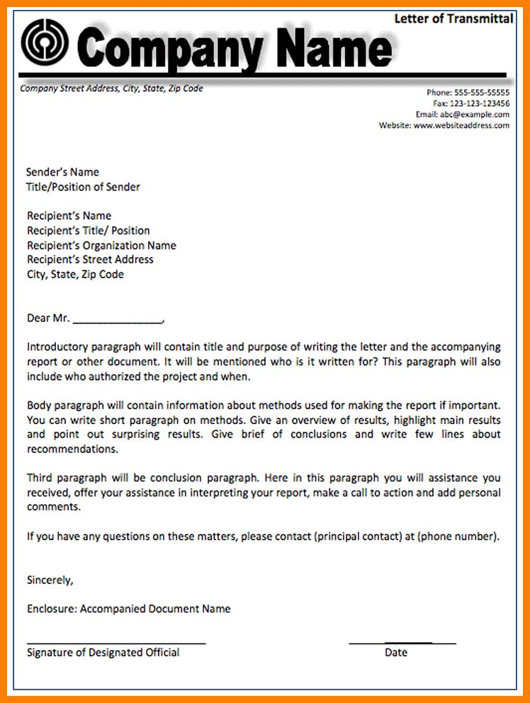 letter of transmittal template - Template