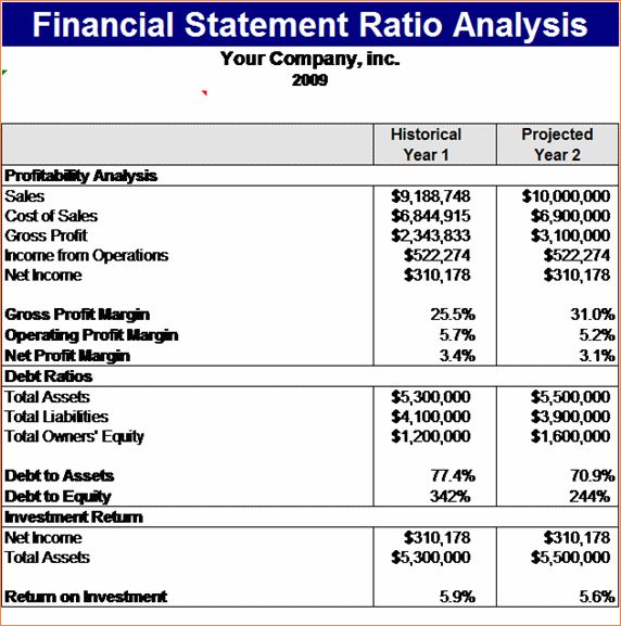 5+ financial statement template | Procedure Template Sample