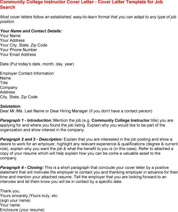 Short Resume Cover Letter Samples College Professor Cover Letter ...