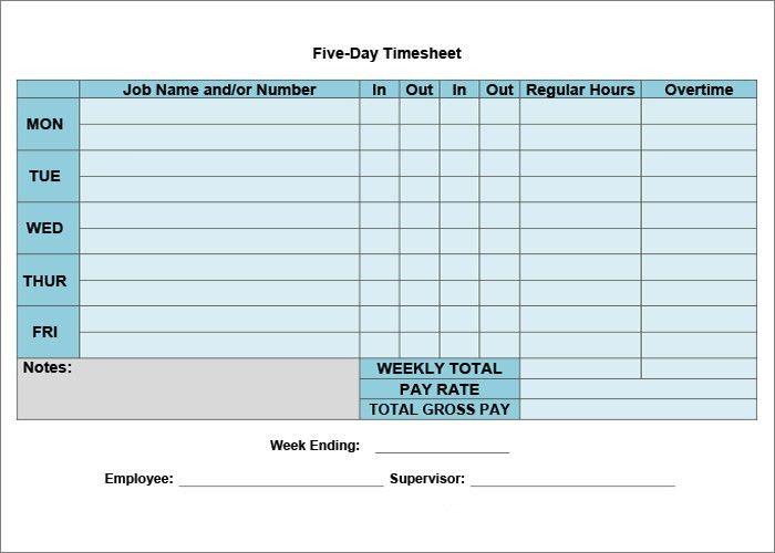 39+ Timesheet Templates - - Free Sample, Example, Format   Free ...