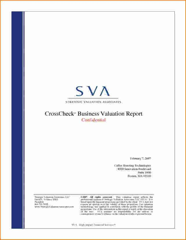 6+ Report Cover Page Template | Printable Receipt