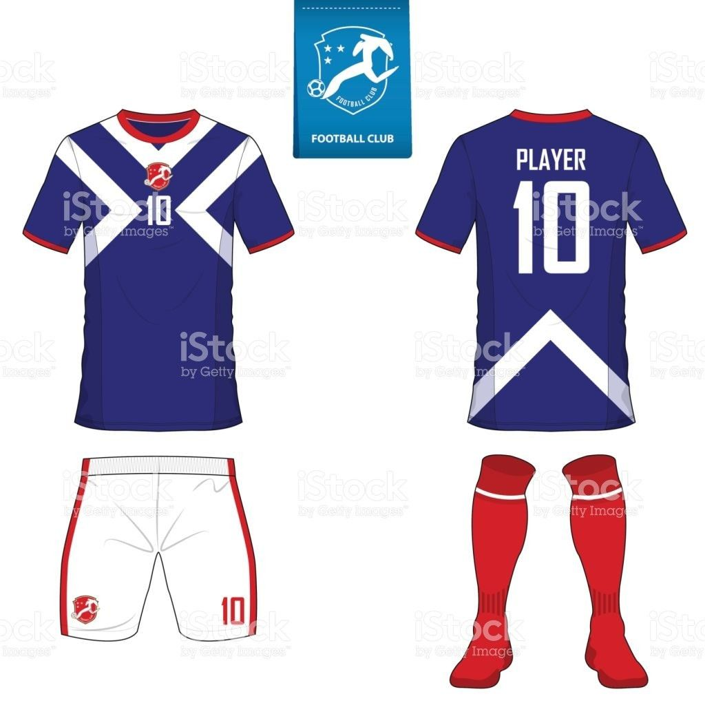 Set Of Soccer Kit Or Football Jersey Template For Football Club ...