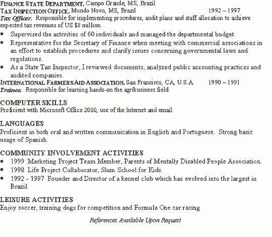 Sample Investment Banking Resume | jennywashere.com