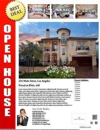 Open House Flyer Template Free | Template idea
