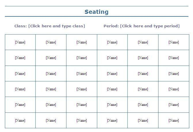 8 Best Images of Printable Seating Chart For Class - Classroom ...