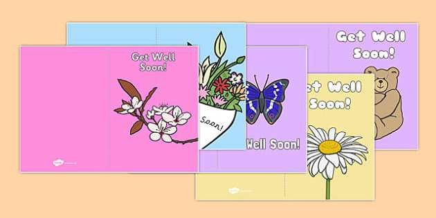 Get Well Soon Card Templates - get well soon, card, templates