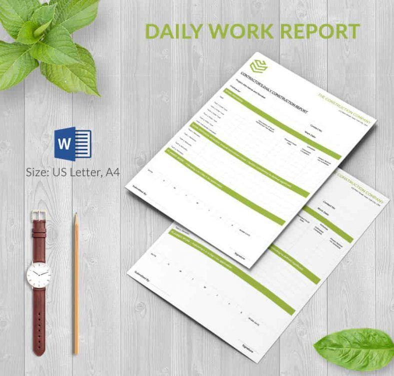 how to write a daily report sample 133. project report format ...