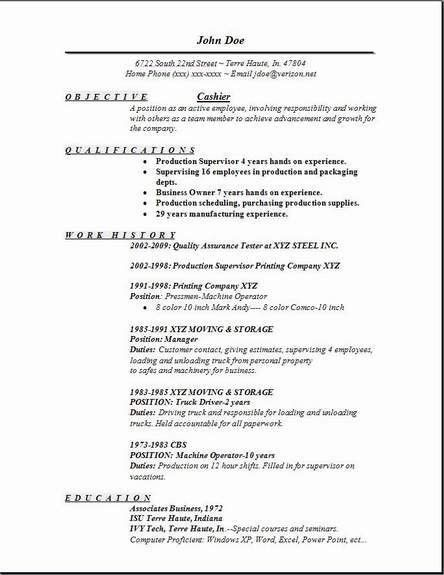 Cashier Resume, Occupational:examples,samples Free edit with word