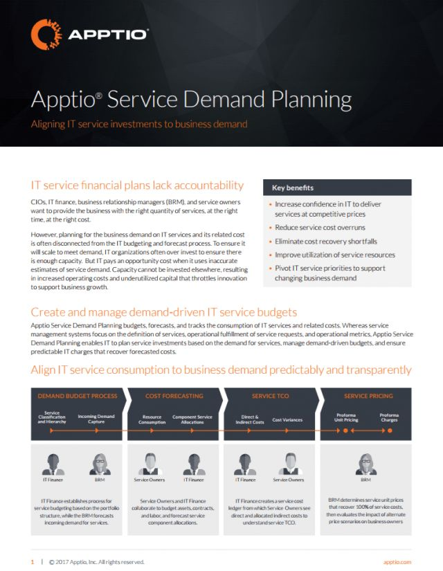 Apptio Service Demand Planning | Apptio
