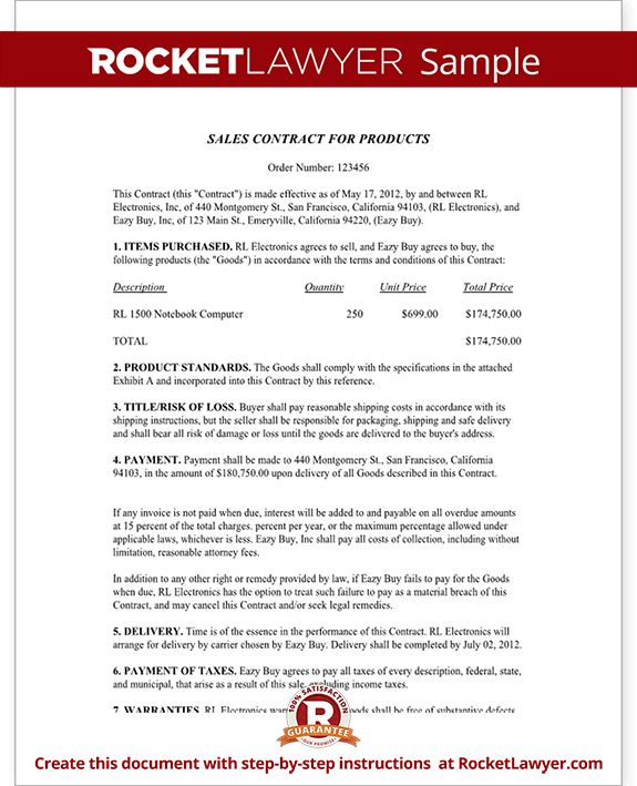 Sales Contract Template   Free Sales Contract Form (with Sample)