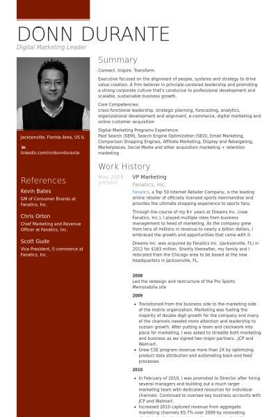 Vp Marketing Resume samples - VisualCV resume samples database