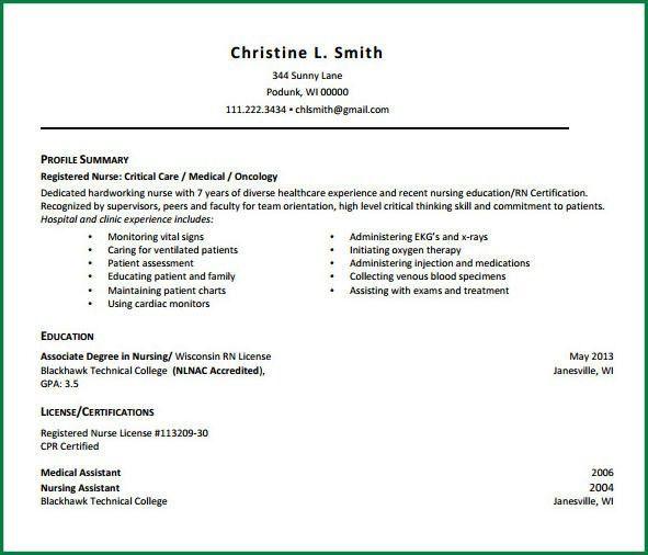 5 Registered Nurse Resumes   applicationsformat.info